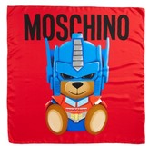 Moschino Women's Transformers Print Silk Scarf