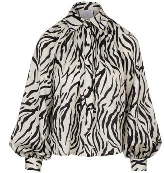 Billow Sleeve Blouse Zebra