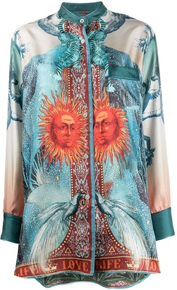F.R.S For Restless Sleepers Luna silk printed blouse