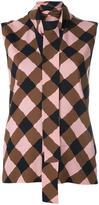 Marni lattice print blouse - women - Silk/Viscose/Spandex/Elastane - 40
