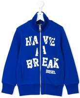 Diesel Have a Break zipped jacket
