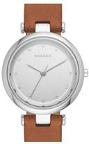 Skagen Women's 'Tanja' Leather Strap Watch, 30Mm
