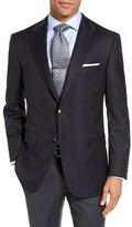 Hickey Freeman Men's Beacon Classic Fit Wool Travel Blazer