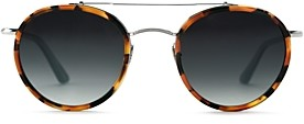 Krewe Women's Poydras Brow Bar Round Sunglasses, 50mm