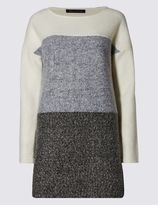 Marks and Spencer Colour Block Long Line Tunic
