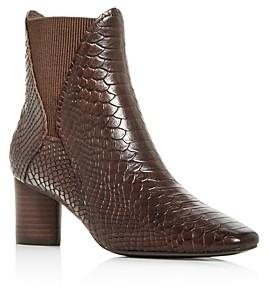 Donald J Pliner Women's Austen Snake-Embossed Square-Toe Booties