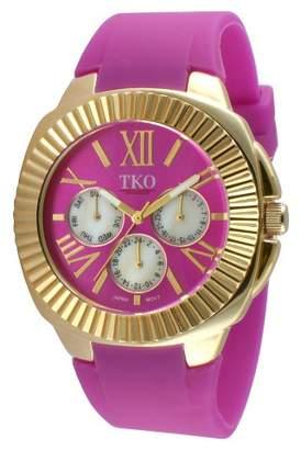 TKO Orlogi Women's TKO Multiple Function Rubber Strap Watch - Purple