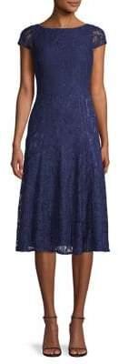 Vince Camuto Floral Lace A-Line Dress