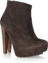Brian Atwood Ami suede platform ankle boots