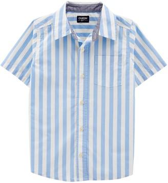 Osh Kosh Boys 4-14 Striped Button-Front Shirt