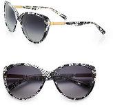 Dolce & Gabbana Lace Acetate Cat's-Eye Sunglasses