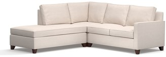 Pottery Barn Cameron Square Arm Upholstered 3-Piece Bumper Sectional