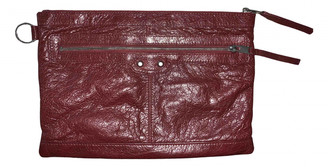 Balenciaga City Burgundy Leather Clutch bags