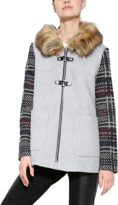 Desigual Women's Abrig_Selena Long Sleeve Coat Grey (GRIS VIGORE CLARO 2042) 12 (Manufacturer Size: 38)