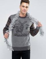Bellfield Stag Jacquard Knitted Holidays Sweater