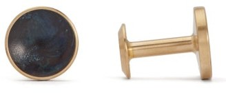 Alice Made This - Bailey Quink Brass Cufflinks - Mens - Grey