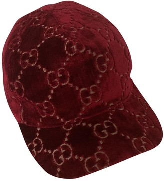Gucci Burgundy Synthetic Hats & pull on hats