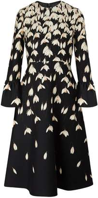 Valentino Long-sleeved midi dress
