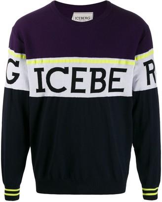 Iceberg logo knit sweater