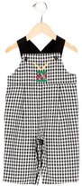 Florence Eiseman Boys' Gingham Embroidered All-In-One