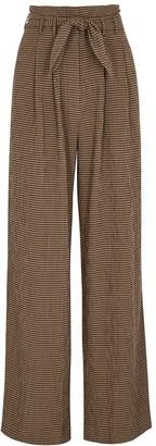 Samsoe & Samsoe Samse Samse Nellie Brown Checked Trousers