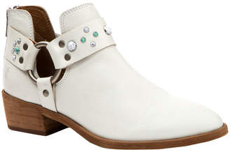 Frye Ray Stone Harness Back Zip Leather Bootie