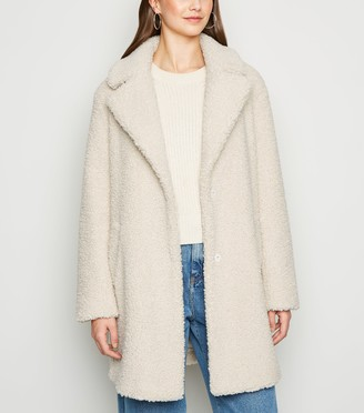 New Look Longline Teddy Coat