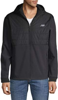 New Balance Colorblock Full-Zip Hooded Jacket