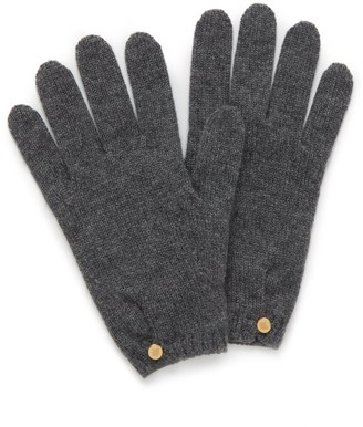 Mulberry Cashmere Gloves Grey Cashmere