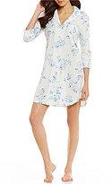 Lauren Ralph Lauren Floral Jacquard Jersey Sleepshirt