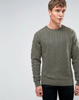 Tommy Hilfiger Jumper With Cable Knit In Green