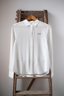 Maison Labiche Maison La Biche - A La Folie Ivory White Silk Shirt - S