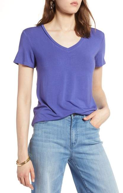 Halogen Modal Jersey V-Neck Tee (Regular & Petite)