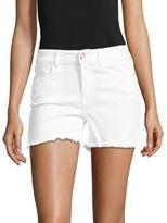 Buffalo David Bitton Frayed Mid-Rise Cotton-Blend Shorts