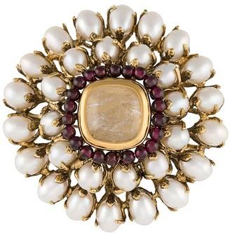 Goossens Perle Baroque floral brooch