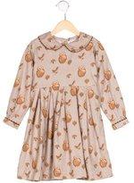 Rachel Riley Girls' Owl Print Long Sleeve Dress