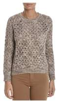 Sun 68 Women's Beige Cotton Jumper.