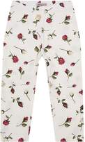 MonnaLisa Rose Print Leggings