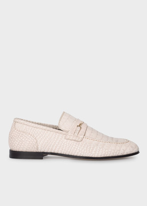 Paul Smith Women's Beige Mock Croc Leather 'Chilton' Loafers