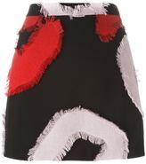 Versace frayed patch mini skirt - women - Viscose/Polyester/Spandex/Elastane/Rayon - 42