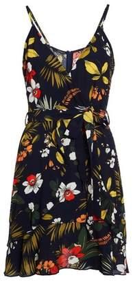 Dorothy Perkins Womens *Quiz Navy Flower Print Wrap Dress, Navy