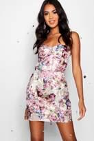 boohoo Boutique Sophia Brocade Bandeau Dress