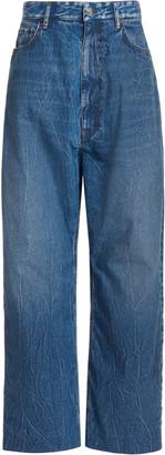 Balenciaga Baggy Rigid High-Rise Wide-Leg Jeans