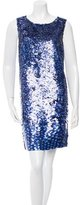 Oscar de la Renta Silk Sequin Dress w/ Tags
