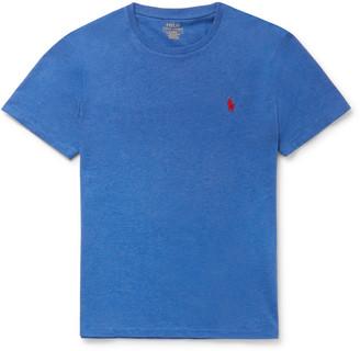 Polo Ralph Lauren Slim-Fit Melange Cotton-Jersey T-Shirt