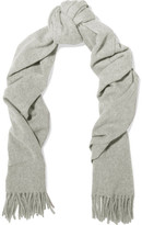 Acne Studios Canada Narrow Fringed Wool Scarf - Gray