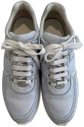 Chanel Blue Cloth Trainers - ShopStyle