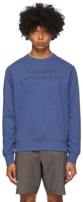 Saturdays NYC Indigo Bowery Miller Crewneck Sweatshirt