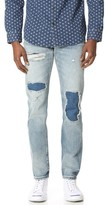 Club Monaco Patchwork Slim Denim Jeans