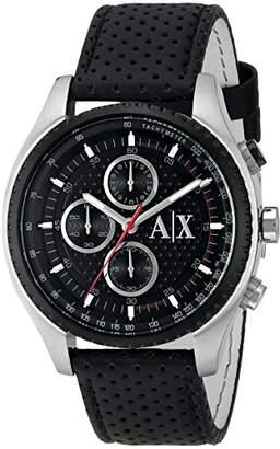 Armani Exchange Men's AX1600 Leather Watch